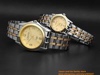 2014 ultrathin lovers watch New Luxury Sport Stainless Steel Date Quartz Analog gold Dial Mens Wrist Watch Chenxi ebay black