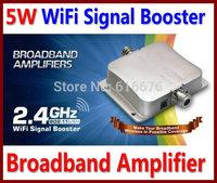 5W WiFi Signal Booster 2.4GHz 802.11b/g/n Wireless Broadband LAN Amplifier Repeater Extend Range Signal hotel wifi booster