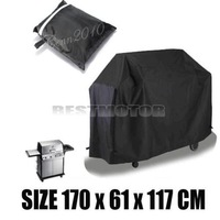 """Details about Waterproof BBQ Cover Garden Patio Rain Dust Barbecue Grill Protector 67x24x46"""""""
