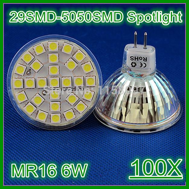 DHL FREE 2014 New Arrival MR16 GU5.3 SMD5050 LED 6W Spotlight Lamp Bulb 29 SMD 220-240V Light Bulb Lamp 500-550lm VS 60W halogen(China (Mainland))