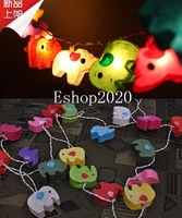 LED Lantern Luminary Light Chandelier Luminaria Home Decorate Lamp Holiday Luminous Baby Elephant Pendant String Lights Lighting
