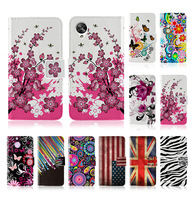 custom print Flip cover card slot stand Butterfly Flower USA UK flag Design Leather wallet case For LG nexus 5 google nexus5