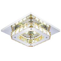 2014  K9 crystal square ceiling light  fashion modern 220V 12W LED ceiling lamp aisle living bedding room hotel hall Lighting