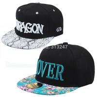 Male women's summer cap flower snakeskin hip-hop cap flat-brimmed hat hiphop cap baseball cap