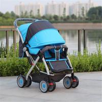 Baby stroller shock absorbers stroller light four trolley ultra wide two-way folding baby car