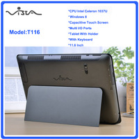 11.6 inch ultrabook slim touch laptop computer Intel Celeron 1037U 2GB 64GB WIFI Windows8 Webcame laptop notebook with keyboard