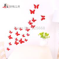 12pcs/pack 6big+6small PVC 3d Decorative Butterflies, Bend To VivId black Kitchen Refrigerator Wall Stickers