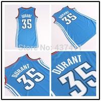 Kevin Durant  Women Basketball Dress ,Oklahoma #35 Kevin Durant Blue New Rev 30 Basketball Dress, Free Shipping