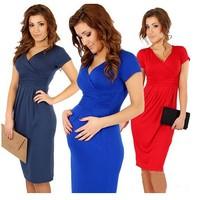 2014 New Fashion Celebrity Elegant V-neck Short sleeve cotton random-length Bodycon Dress eenschin free shipping sexy dress
