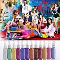 12 Color New Style Nail Polish Temporary Mix Salon Fun Fast Easy Set Pastel DIY Professional Hair Mascara Dye Color Cream