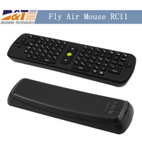 Fashion Mini Fly Air Mouse RC11 2.4GHz wireless Keyboard for android Mini PC TV  box can provide Russian letters freeshipping