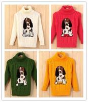 Puppy dog 2T-4T new 2013 winter autumn -summer baby sweater boy girl child sweater baby turtleneck sweater children outerwear