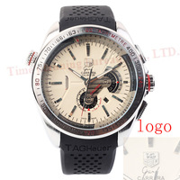 The fashion leisure sports watches mechanical watches, silica gel belt, elegant circular dial watches.
