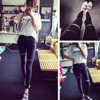 Fashion Women jeans.plus size designer Trousers.Classical Vintage Denim jeans.ladies full length pants wj1013