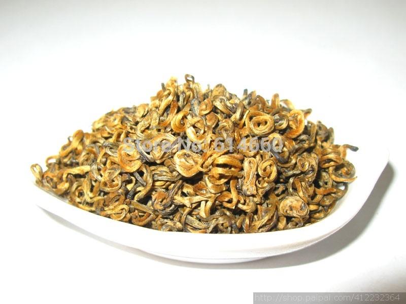 1000g Top Quality curly jinjunmei, Dian Hong,JinJunmei,Yunnan Black Tea,Free Shipping(China (Mainland))