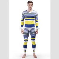 Brand WJ 2 Pieces Mens Thermal Long Johns Top and Bottom Set/Men's Undershirt Cotton V-Neck Shirts Long Johns