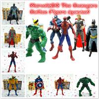 Free Shipping The Lattest The Avengers 6pcs/set Action Figure Doll toy Captain America+spiderman Marvel Superhero