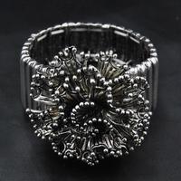 Wholesale 2014 New Hot Sale African jewelry Costume Flower Bangle Vintage Indian Jewelry Luxury Women Cuff Bracelet