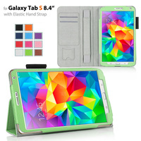 Stand leather Case for Samsung Galaxy Tabs 8.4 T700 case+handhold+wallet card holder+sd card slot 11colors 100pcs/lot freeship