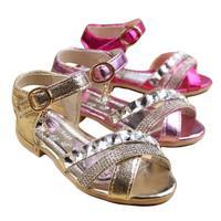 summer children sandals rhinestone paillette princess shoes crystal shoes girls sandals children sandals for girls