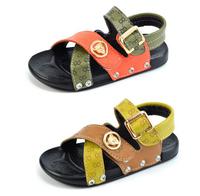 2014 shoes boys child sandals genuine leather ploughboys massage sandals polyurethane