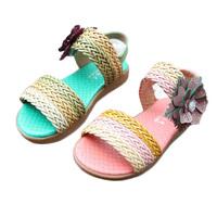 2014 knitted sandals children female child sandals girls bohemia slippers sandals