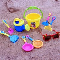 Child beach toy set baby hourglass water sand tools baby