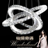Hot sale Diamond Ring LED Crystal Chandelier Light lustre crystal Circles 100% Guarantee +Free shipping 110-220V