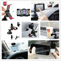 Universal 360 Degrees Rotating Car Windshield Mount Holder Stand Bracket for Cell Phone Free Shipping 1pcs/lot