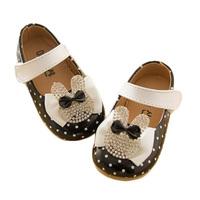 2014 spring children shoes infant baby slip-resistant rabbit polka dot single shoes toddler baby princess shoes single shoes
