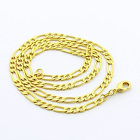 5pcs/lot high quality 24K Yellow gold plated GP 6mm 24inch bold fashion cool man's curb chain necklace