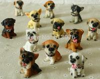 Dolls House Miniature Animals resin dog toy,Home Decor Crafts Schnauzer dog,Diy Resin crafts
