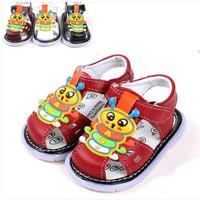 Children summer sandals caterpillar lamp leather sandals for boys girls  baby sandals baby shoes beach sandals