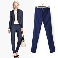 2014 New arrivals Ladies' elegant office-lady suit pants work style trousers zipped pockets pants slim brand designer pants