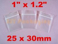 "GREAT BULK PRICE 100 SMALL Plastic Ziplock Thick Reclosable Poly Zipper Bags 1"" x 1.2""_25 x 30mm"