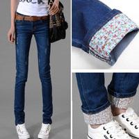 Fashion Women jeans.plus size designer Trousers.Classical Vintage Denim jeans.ladies full length pants wj1019