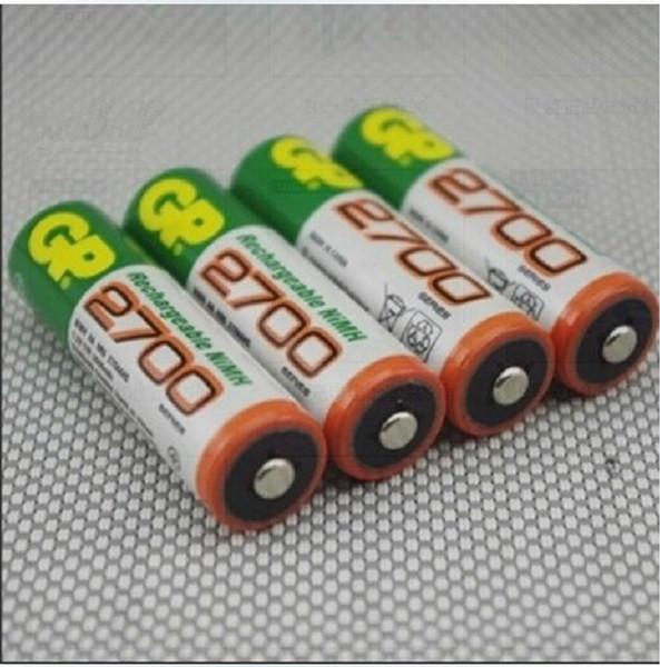 4pcs/lot original GP aa rechargeable battery 2700mah / gp 2700 / / rechargeable battery gp batteries 1.2V Ni-MH + Free shipping(China (Mainland))