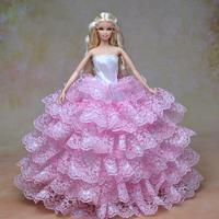Handmade Vintage Wedding Derss For Barbie Doll