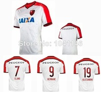Top!14/15 Thailand best Quality CR Flamengo 2015 Soccer Jerseys Shirt embroidery LOGO Football jersey Shirt,Free shipping