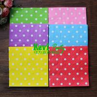 Free Shipping 120pcs/lot 2-Layer multicolor Polka Dots Wedding Paper Napkin Supplies/Party Supplies 100%Virgin Pulp Paper napkin