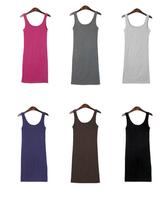 2014 new dress women's summer dress Knitted slim plaid sleeveless party basic slim hip sexy vest one-piece dress free shipping!
