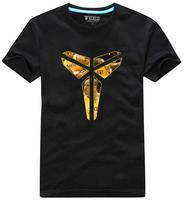2014 New Fashion Kobe Bryant T-shirt Jersey basketball Shirt with black white yellow free shipping