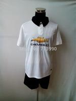 V.PERSIE #20 ROONEY #10 away white 2015 Man jerseys+shorts customize free 14-15 PERSIE ROONEY away soccer football jerseys
