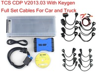 2013.03 version+ keygen led interface TCS CDP PLUS (new tcs cdp quality A) on OBD CONNECTOR +cables for CARS and trucks