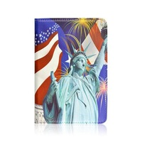 HOT Selling!High Quality 360 Rotating USA Statue of Liberty PU Leather Case Stand Cover for ipad mini,10 pcs/lot + Free shipping