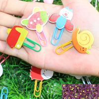 South Korean stationery / cartoon painting / cute animals / wooden paper clip / bookmark