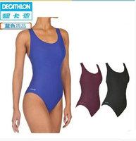 Decathlon Triangular One Piece Swimsuit Women Swimsuit Conservative S M L XL XXL Thin Slim Sport NABAIJI Blue Black Red