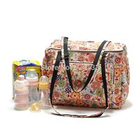 Large capacity multi-purpose flower shoulder bag mom Feeding bottle Lactation bag travel bag yy81