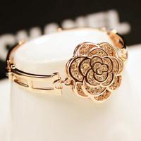 Gold Plated rose female flower bracelet The court aristocracy Gold Bracelet Major suit Star Bracelet Free Shipping