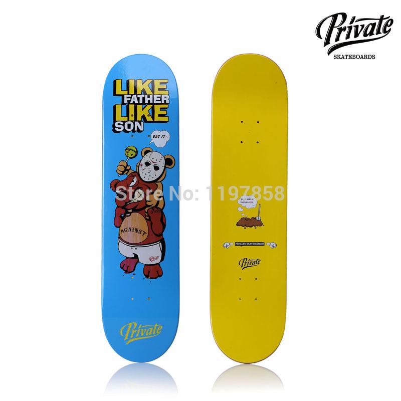 "Free Shipping Street Decks Private Pro Deck Maple Deck 7.75"" X 31.125"" Skateboard Deck(China (Mainland))"